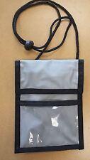 ID Badge Passport Holder Press Pass Neck Strap Organizer Pouch