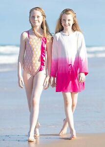 Malibu Arrows Swimsuit /& Cover Up Set Sizes:2T,3T,14 Cabana Life Girls/' UPF 50