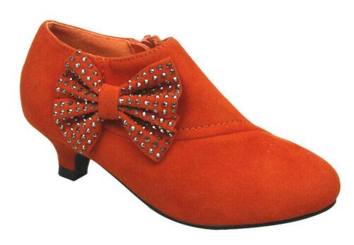 Flower Girls Kids Dance Slip On Party Heels Sandals Wedding Shoes Event 9-4
