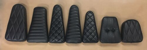 KG ENGINEERING Motorcycle Backrest Pads • Multiple Sizes/Styles • New Old Stock