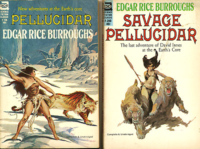 2 Pellucidar books by Edgar Rice Burroughs - Ace F-158 F-280 | eBay