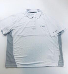 Columbia-PFG-Men-039-s-Shirt-Short-Sleeve-Polo-White-2XL