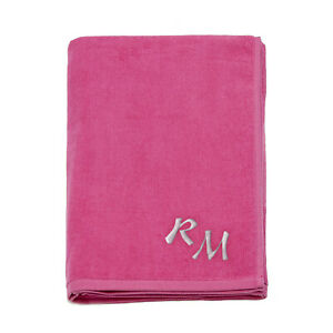 Large Monogrammed Beach Towels.Details About Large 100 Cotton Embroidered Monogram Beach Towel Bath Sheet Holiday Towels