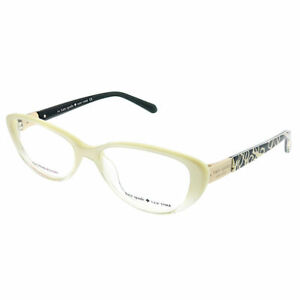 b6c4161d118ac Kate Spade Finley W12 Ivory Fade Plastic Cat-Eye Eyeglasses 49mm ...