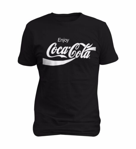 Coca Cola White Enjoy Logo Men T-shirt