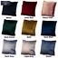 """Velvet Plush Plain LARGE Cushions Luxury Soft FILLED Cushion 18/""""  20/""""  22/"""""""