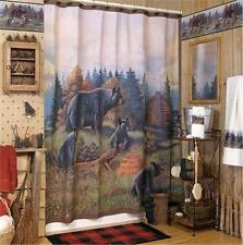 Item 4 New BLACK BEAR LODGE Shower Curtain 70 By 72 Inches Avanti Rustic Cabin