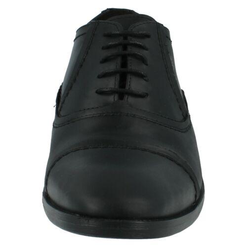 Vente SAGE Base London Homme en Cuir à Lacets Chaussures Formelles Noir Cireuse £ 35.00