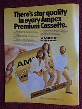 MORRIS ROBIN 1981 THE BEE GEES BARRY AMPEX Tape Cassettes VINTAGE AD