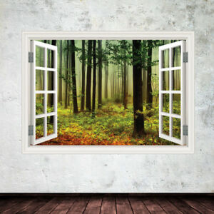 Image Is Loading Woods In Window Frame Wall Art Sticker Decal