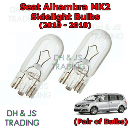 Seat Alhambra Front Sidelights Park Lights Side Light Bulb Bulbs MK2 10-18