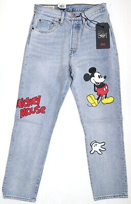 New Disney X Levi/'s 501 Original Fit Mickey Mouse Women/'s Cropped Jeans