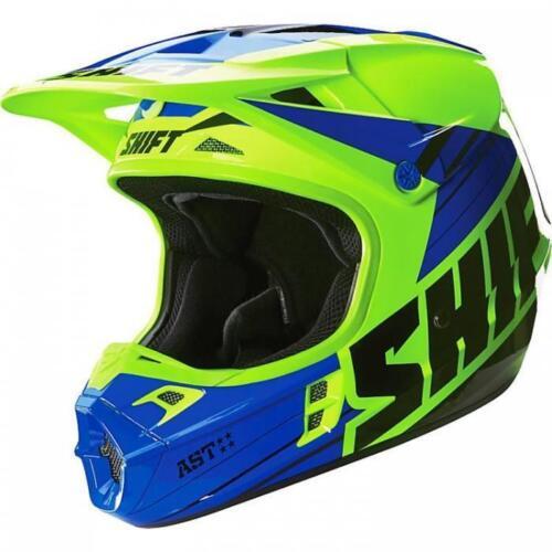 Shift Assault Race Helm Gelb Blau MX Enduro MTB Moto Cross DH Supermoto Quad