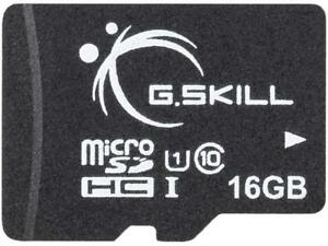 G.Skill 16GB microSDHC UHS-I/U1 Class 10 Memory Card with Adapter (FF-TSDG16GA-C