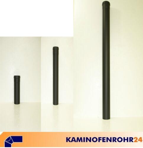 Horno de tubo pellet acero T-trozo con kondensatkapsel gris negro Ø 80 100 mm