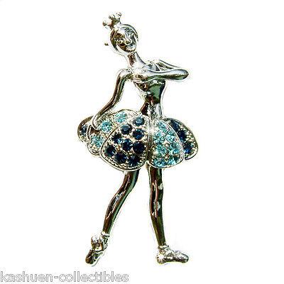 Broche bailarina oro colorido vidrio piedras by ella Jonte Brooch bailarina regalo