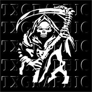 Grim Reaper Decal Santa Muerte Calcomania Skull Our Lady Holy Death
