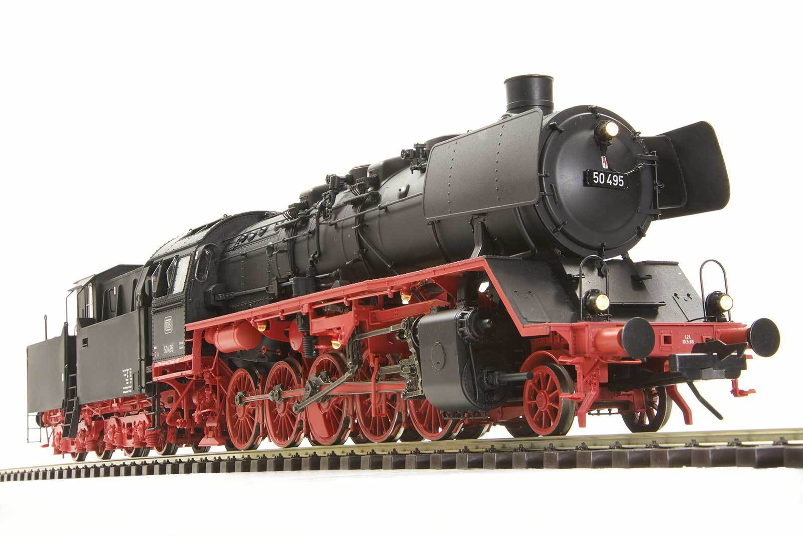 Lenz 40254-01 locomotiva BR 50 cabine TENDER DB DIGITAL SOUND traccia 0