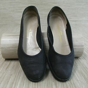Ferragamo zwarte Us jurk Boutique Damesmaat pumps B Salvatore 6 Schoenen Mode BdCxoer