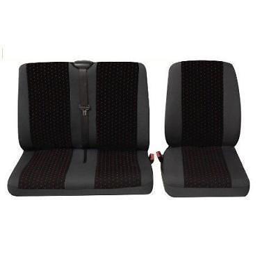 Sitzbezüge Schonbezüge SET ET Toyota Hiace Stoff dunkel grau