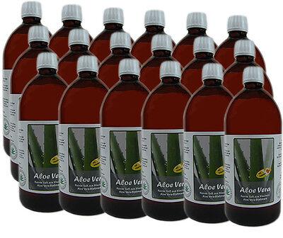 18 Liter (EUR 5,00 / L)  Aloe Vera DIREKTSAFT 99,6% - OHNE FRUCHTSTÜCKEN