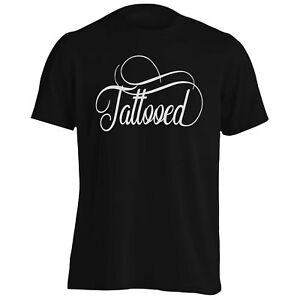 TATTOOED-Men-039-s-T-shirt-Debardeur-t340m