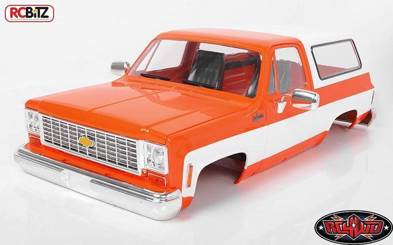 RC4WD Chevrolet Blazer corpo rigido SERIE COMPLETA Arancione Classic Z-B0146 K5