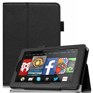 Details about For Amazon Kindle Fire HD 7 4th Generation 2014 Tablet Folio  Case Cover Stand