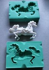 Silicone Mould 3D CARRUSEL HORSE Sugarcraft Cake Decorating fondant fimo mold