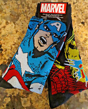 Marvel Adult Captain America and Iron Man Sock Set- Set of 2 Pairs Size 6-12 NWT