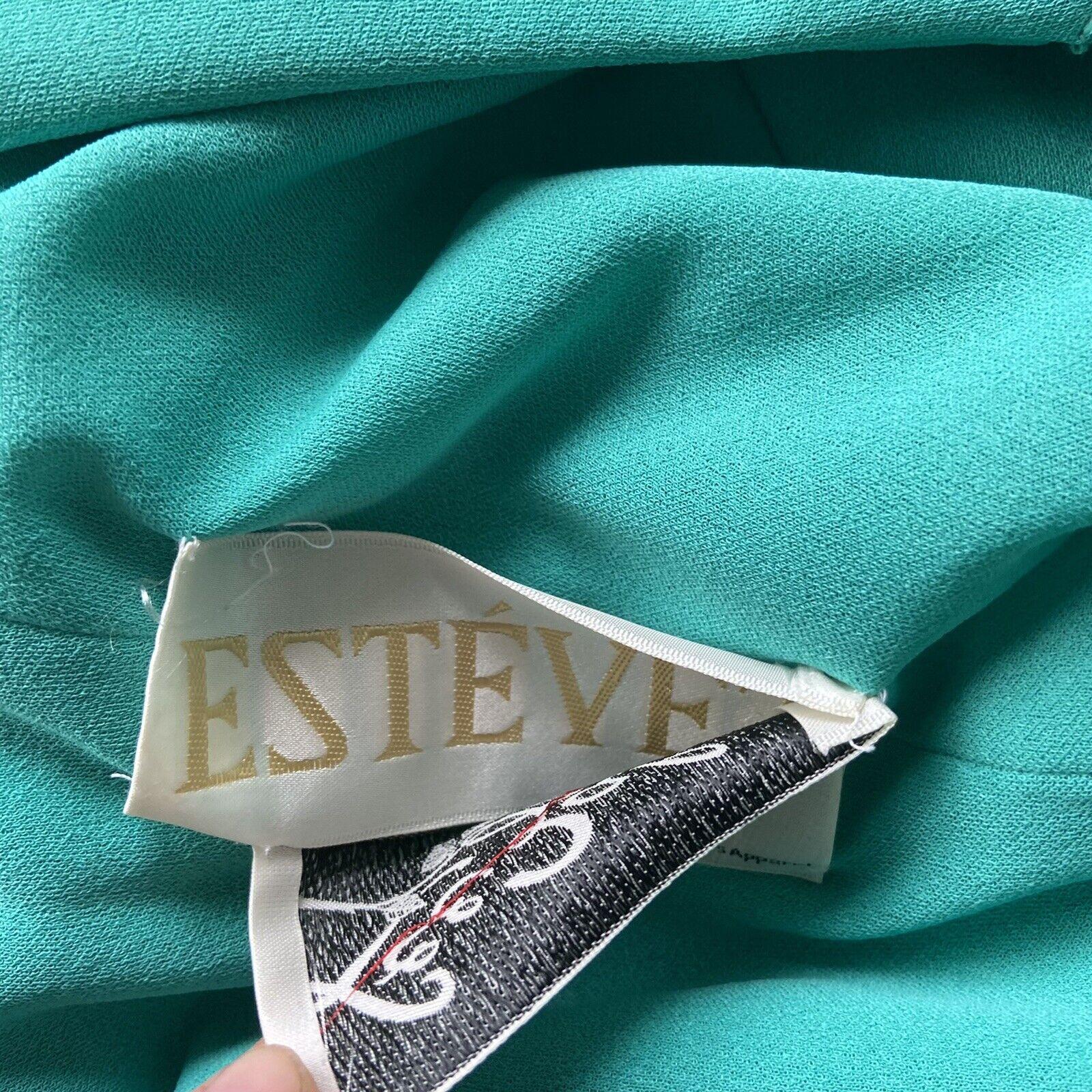 Vintage ESTEVEZ 1970's Knit Jersey Disco Maxi Dre… - image 12