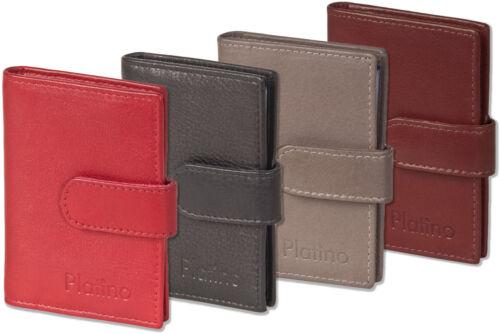 Platino Porta carte di credito con rinforzato tasche da naturale pelle