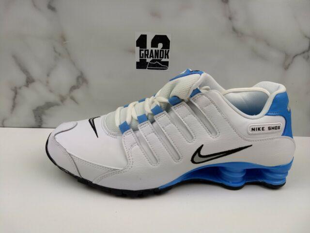 Nike Shox NZ EU Mens Size 12 Shoes White University Blue UNC 501524 108