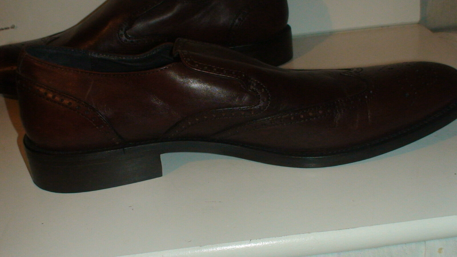 MIKE KONOS DRESS OXFORD OXFORD OXFORD LOAFERS SZE 45 ALL LEATHER -ITAY  235 RETL ce2f56