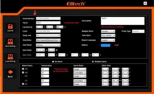 ELITECH rc-51 ai USB PEN STYLE temperatura dati logger RECORDER 32000 punti