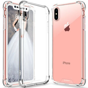 For Apple iPhone XS Max Slim Clear Transparent Back Shockproof Hard Phone Case
