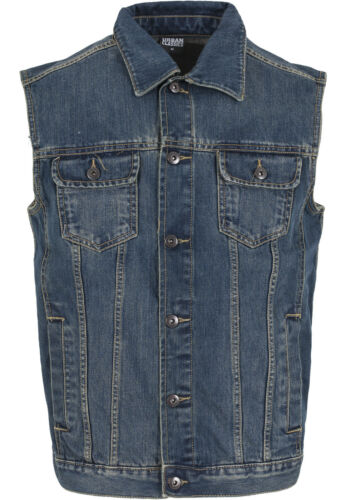 Urban Classics Vest Jacket Men/'s Jeans Denim Vest over Sizes