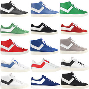 PONY-Homme-Lacets-Decontractees-Hi-Low-Top-Fashion-Baskets-Chaussures