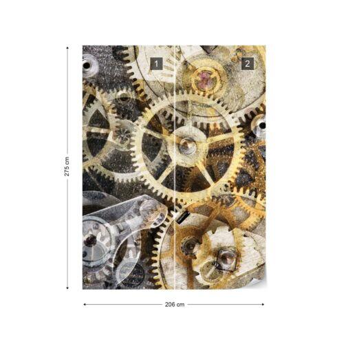 Montre Mécanisme temps Photo Papier Peint Mural Toison EasyInstall papier