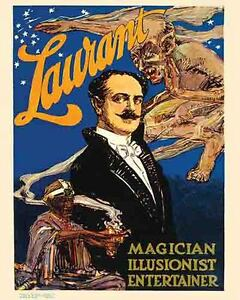 Vintage Antique Rare POSTER 1920/'s Kar-Mi India Magic Show Magician Circus Freak