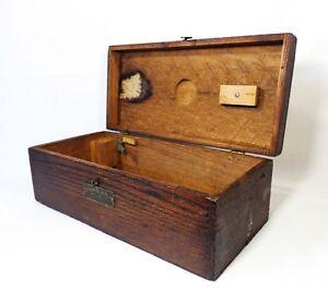 Bostrom-brady Mfg Co Vint Convertible Level Surveying Wooden Box W/brass Latch Surveying Equipment