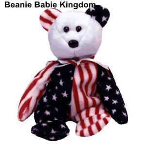 TY BEANIE BABY BABIE SPANGLE (BLUE HEAD) AMERICAN STARS AND STRIPES ... 8ab63acc12b