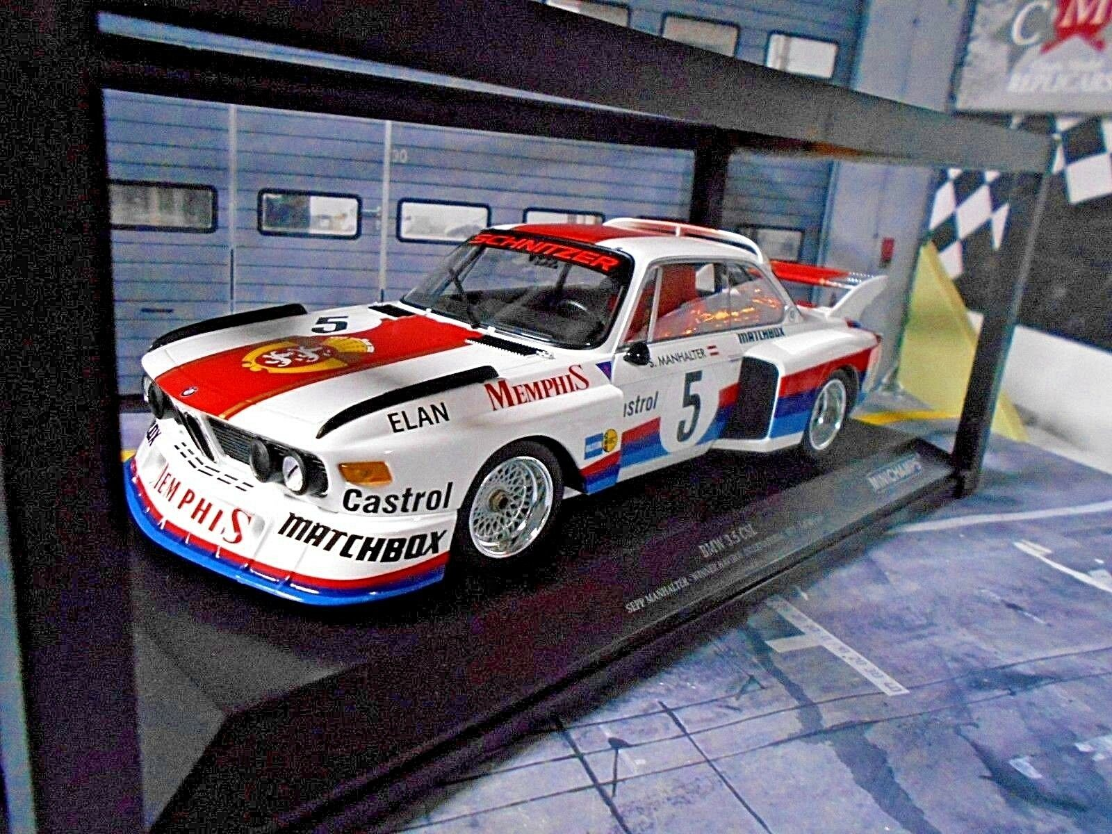 BMW 3.5 CSL Manhalter Winner Havirov Intern.1976 Memphis Minichamps 1 18
