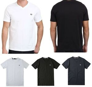 Fred Perry Tshirt Classic V Neck Tee Mens Shrit 100/% Cotton NEW