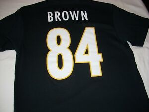 the latest 5b775 d0476 Details about Pittsburgh Steelers #84 Antonio Brown Shirt Size XL Brand New