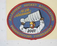 Alleghany Hockey Assoc. 16th Annual Thanksgiving Tournament Patch - 2007
