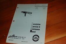 Miller Welder Mhg 50a1 Mig Gun Spare Owner Operator Operation Maintenance Manual