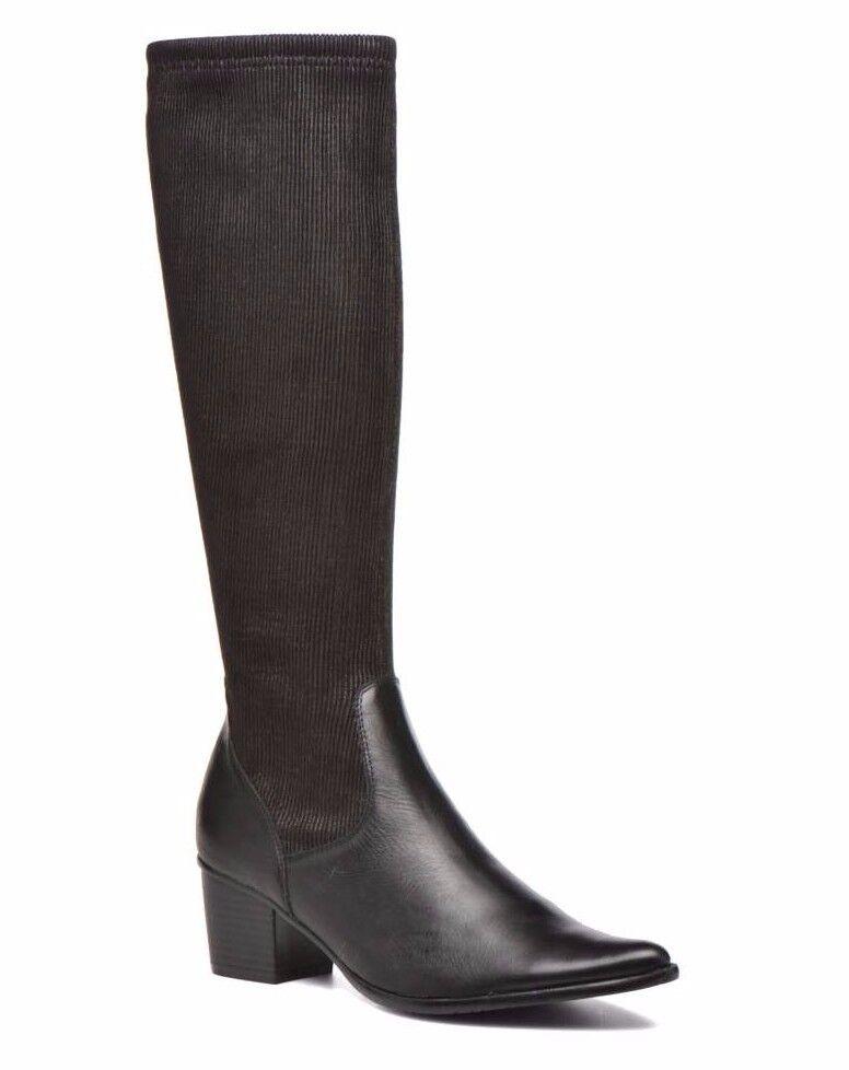 Madison ayfa  VO Noir vaguesp Femme UK 7.5 Noir Zip-up en Cuir & Textile Bottes