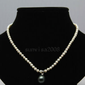 Real-4-5mm-natural-round-freshwater-cultured-white-pearl-necklace-pendant-17-034-1