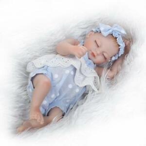 "10"" Reborn Baby Doll Mini Silicone Vinyle Lifelike Alive Newborn Toys kids gifts"